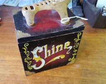 Vintage Shine Box w/ Cast Iron Foot Rest