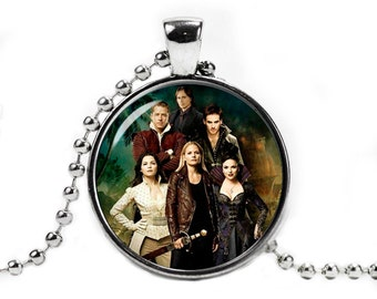 Once upon a time Characters Necklace Pendant Fandom Jewelry Fangirl Fanboy