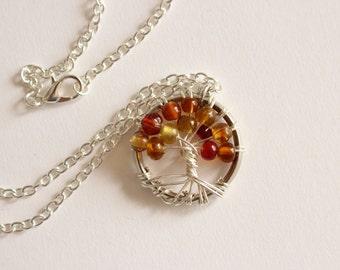 Tree of life pendant - Autumn
