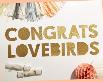 Engagement Party | Engagement | Congrats Lovebirds Party Banner