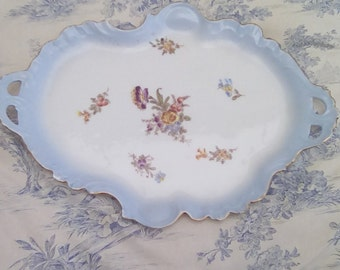 Antique limoges porcelain plate, Jean Pouyat serving plate or tray