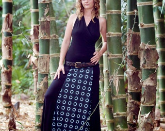 2012 Eclipse photo print skirt with bamboo /organic cotton