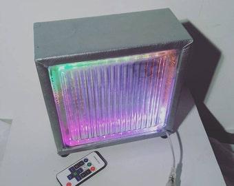 LED glass cube