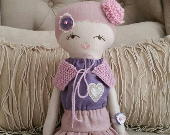 Violet...a handmade linen doll
