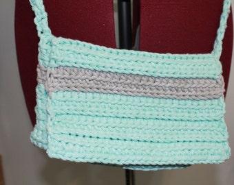 Teal Crochet Purse