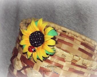 """Clip hair """"Sunflower"""""""
