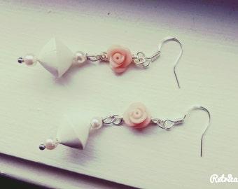 Life is a Rose Dangle Earrings