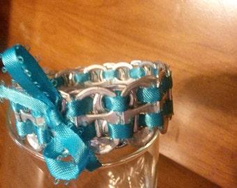 Light Blue Soda Tab Bracelet