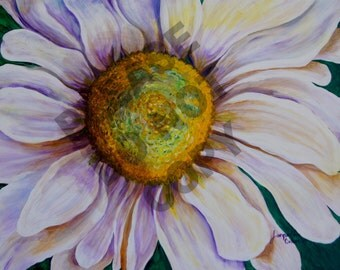 "Daisy, Original Acrylic Painting on Canvas, 22""x28"" Unframed"