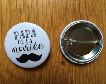 Father of the bride (Wedding guest Badges) badge