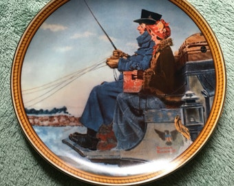 """Norman Rockwell Plate """"The Journey Home"""""""