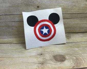 Captain America Mickey Mouse Embroidery Design