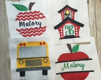 Back to School Embroidery Design Package,