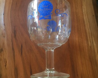 Vintage PBR Pabst Blue Ribbon Chalice Cup