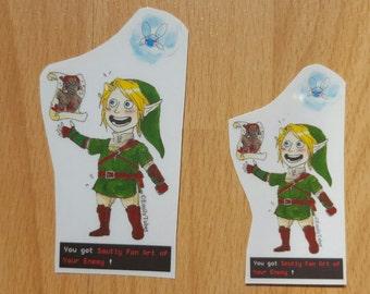 Legend of Zelda stickers - Link finds smutty fan art
