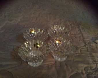 Set of 4 Genuine Lead Crystal Candle holders.