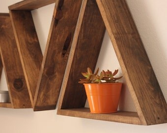 Triangle Shelf - Geometric Shelves