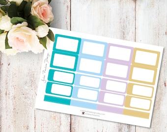 Planner Stickers for the vertical Erin Condren Life Planner - Blue Ancestor Kit Haf Boxes Sheet