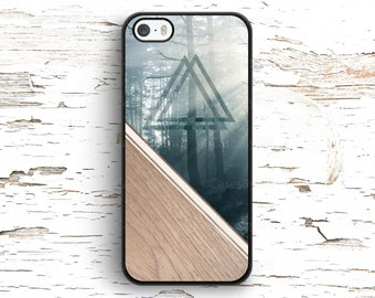 Forest on Wood Texture, Triangles, iPhone Case, iPhone 6, iPhone 6S, iPhone SE, iPhone 4/4S, iPhone 5, iPhone 5S, iPhone 5C