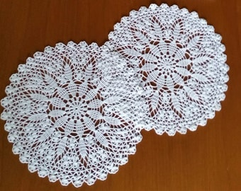 Round Crocheted Doilies