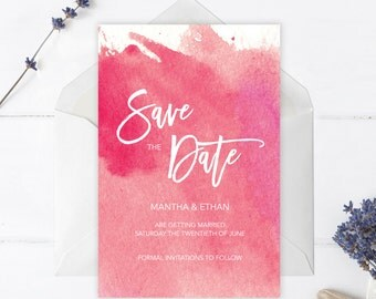 Printable Boho Watercolor Save The Date