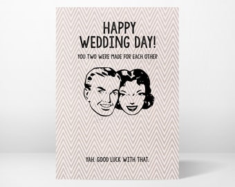 wedding card, greeting card, funny, whimsical, printable, 5x7, instant download, digital