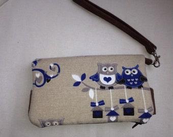 Owl purse/ owl clutch/ swoon della /handmade purse/ owl wallet