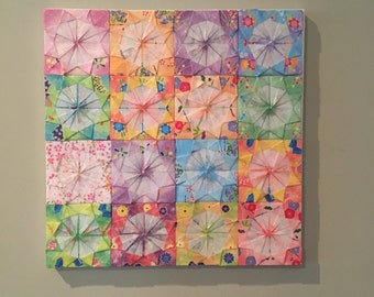 Origami Decoupage Wall Decor