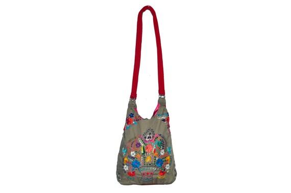 Mexican dress embroidered bag boho