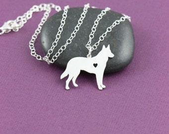 German Shepherd Dog Pendant Necklace