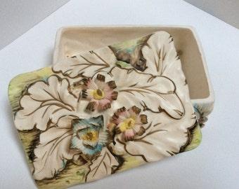 Trinket Box, Japanese Ceramic Box for Keepsakes