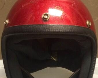 Vintage Sparkle Motorcycle Helmet