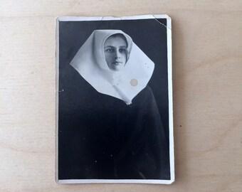 Antique Photograph - Creepy Nun