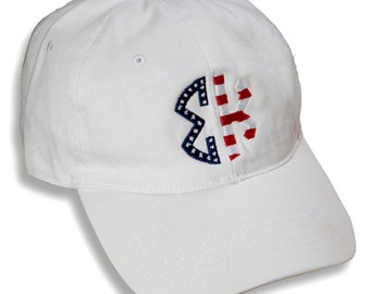 SK  Sigma Kappa Sorority Embroidered Patriotic Baseball Hat.