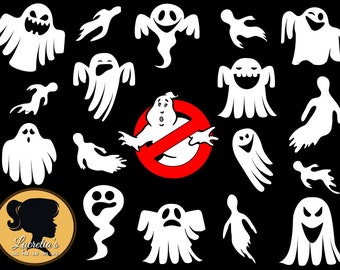 Ghostbusters logo Silhouette-Ghost Svg-Ghost Design-Halloween SVG (zipped .eps .pdf .dxf .svg and .studio file) vector cutting files