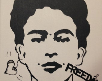 Frida Stencil Original Painting
