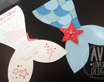 20 invitations personalized with embossing