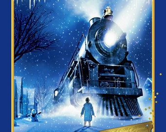 "Christmas Fabric, Train Fabric: The Polar Express Fabric Panel Wall Hanging, Quilt Top 100% cotton fabric by the panel 35""x43"" (SC607)"