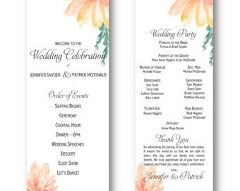 Elegant Wedding Program Printable