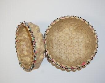 Handmade Beaded Basket