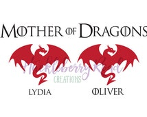 Mother of Dragons Family Figures Vinyl Decal Inspired by Game of Thrones window car sticker