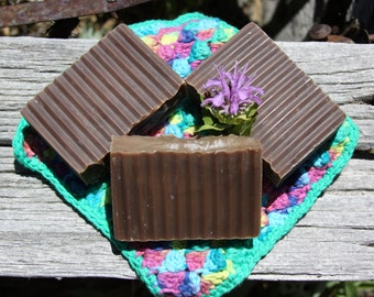 Chocolate Handmade Bar Soap, Made in Montana, cold process soap