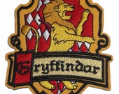 "Harry Potter Gryffindor Crest 3 1/2"" Tall Embroidered Patch"