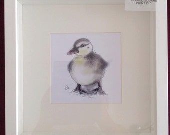 Framed duckling print // duckling print // baby animal nursery decor // duck gifts // duck decor // duck print // duckling nursery decor