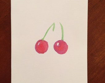 Hand Painted Fruit Greeting Cards