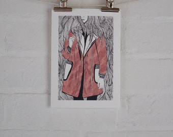 Red Coat - Giclee Fine Art Print