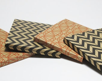 Small notebook paper geometric patterns to write or draw (multicolored pages)