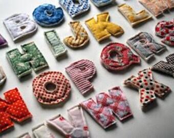 Charitable Fabric Alphabet Magnets
