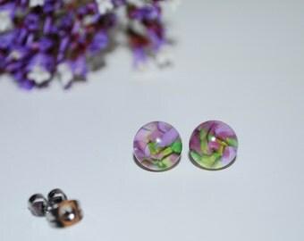 Fleeting Beauty Glass Stud Earrings