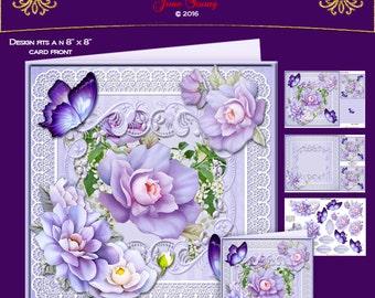 Mauve Camellias & White Lilac